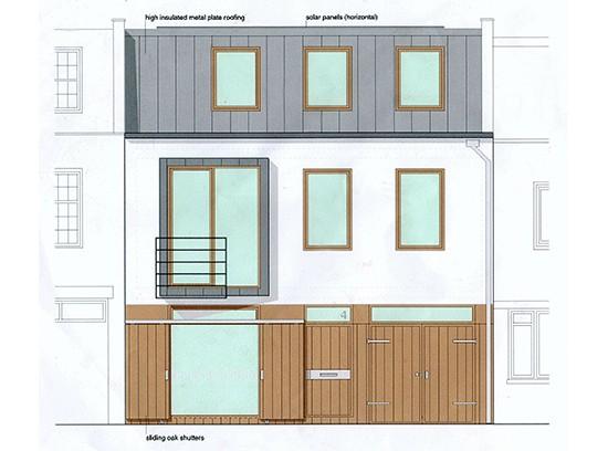 Leinster Mews House facade elevation