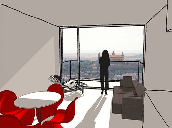 Apartment Tower Bratislava Slovakia2 interior