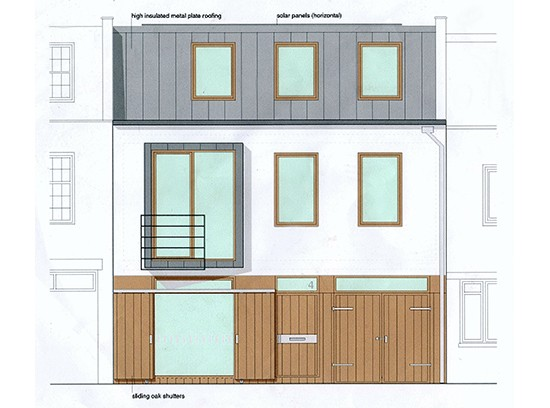 Leinster Mews House facade elevation