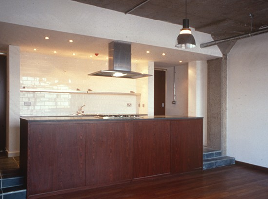 Shoreditch loft kitchen perspective